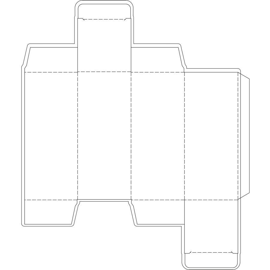 Spectrum Packaging 2D Packaging Dieline Thumbnail