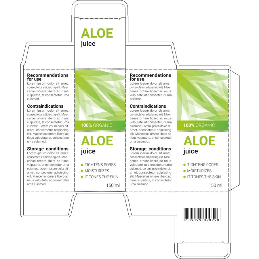 Spectrum Packaging 2D Packaging Dieline with Artwork Thumbnail