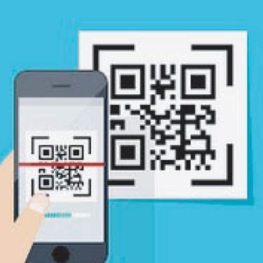 Spectrum Packaging Cellphone Scanning QR Code Illustration Thumbnail