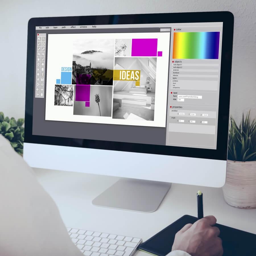 Spectrum Packaging Man Using Computer to Prepare Digital Files Thumbnail