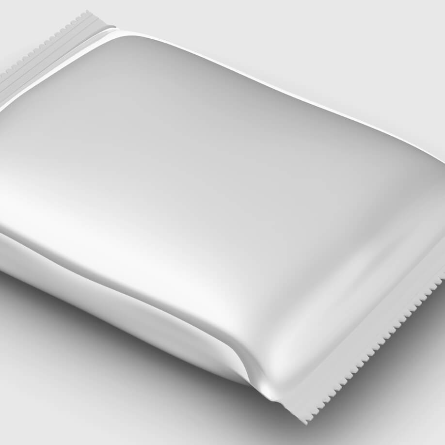 Spectrum Packaging Metallic Pouch on Gray Background Thumbnail