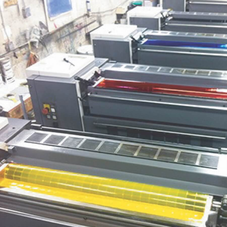 Spectrum Packaging Outside View of Offset Printing Machine Thumbnail