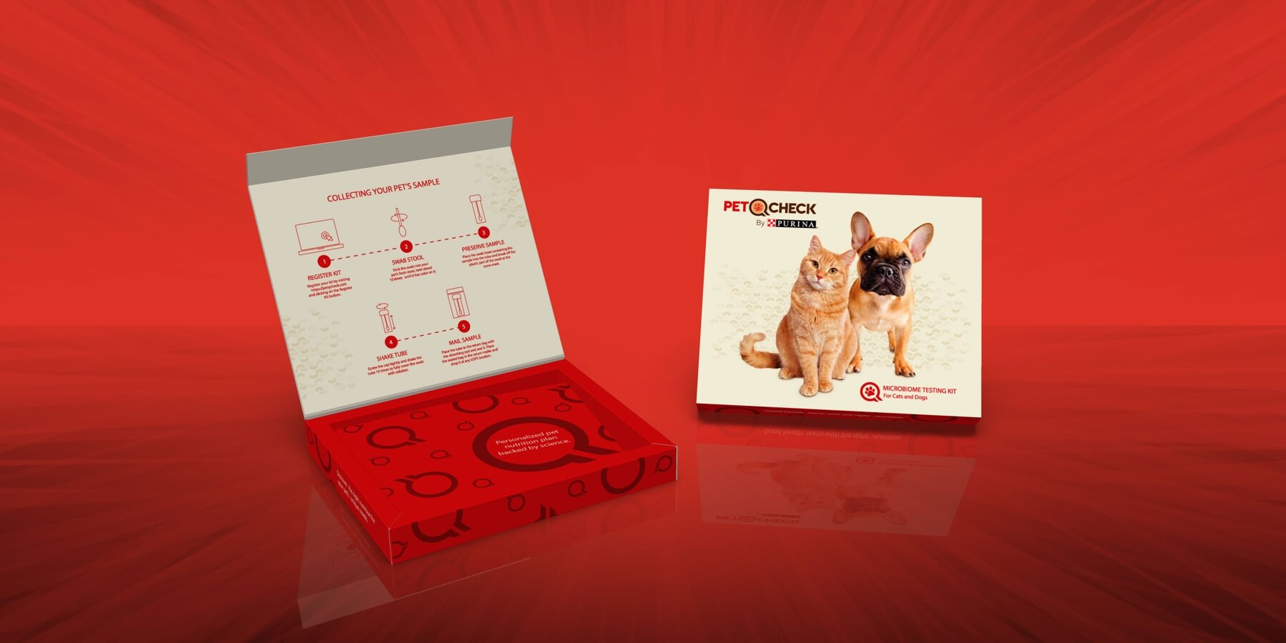 Spectrum Packaging Purina 3D Packaging on Red Background