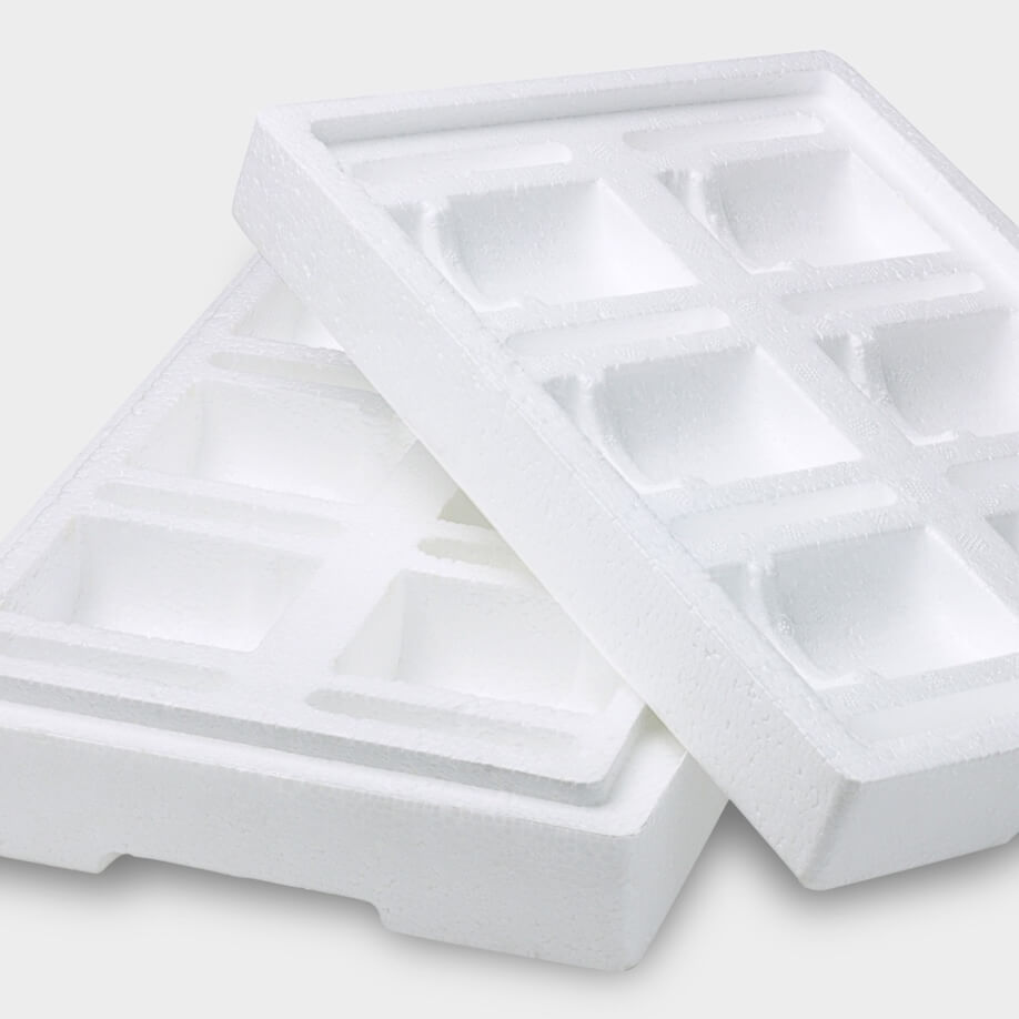 Spectrum Packaging White Industrial Packaging Tray on Gray Background Thumbnail